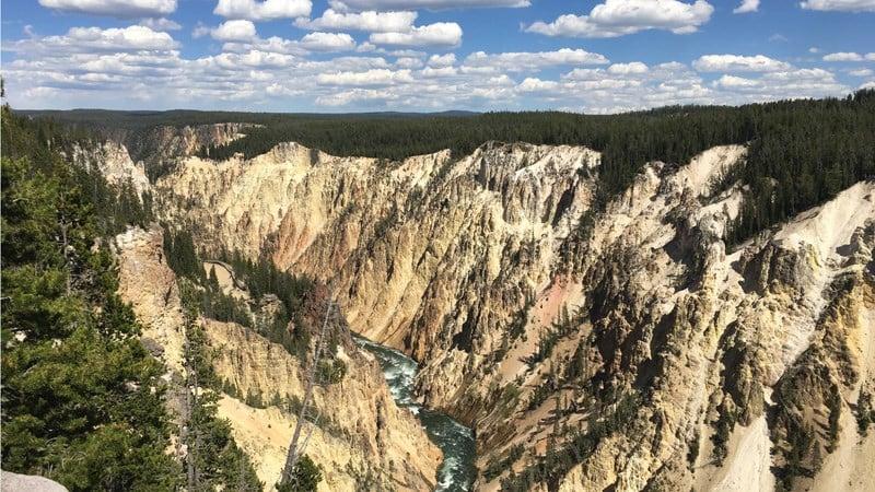 Grand Canyon of the Yellowstone; KULR
