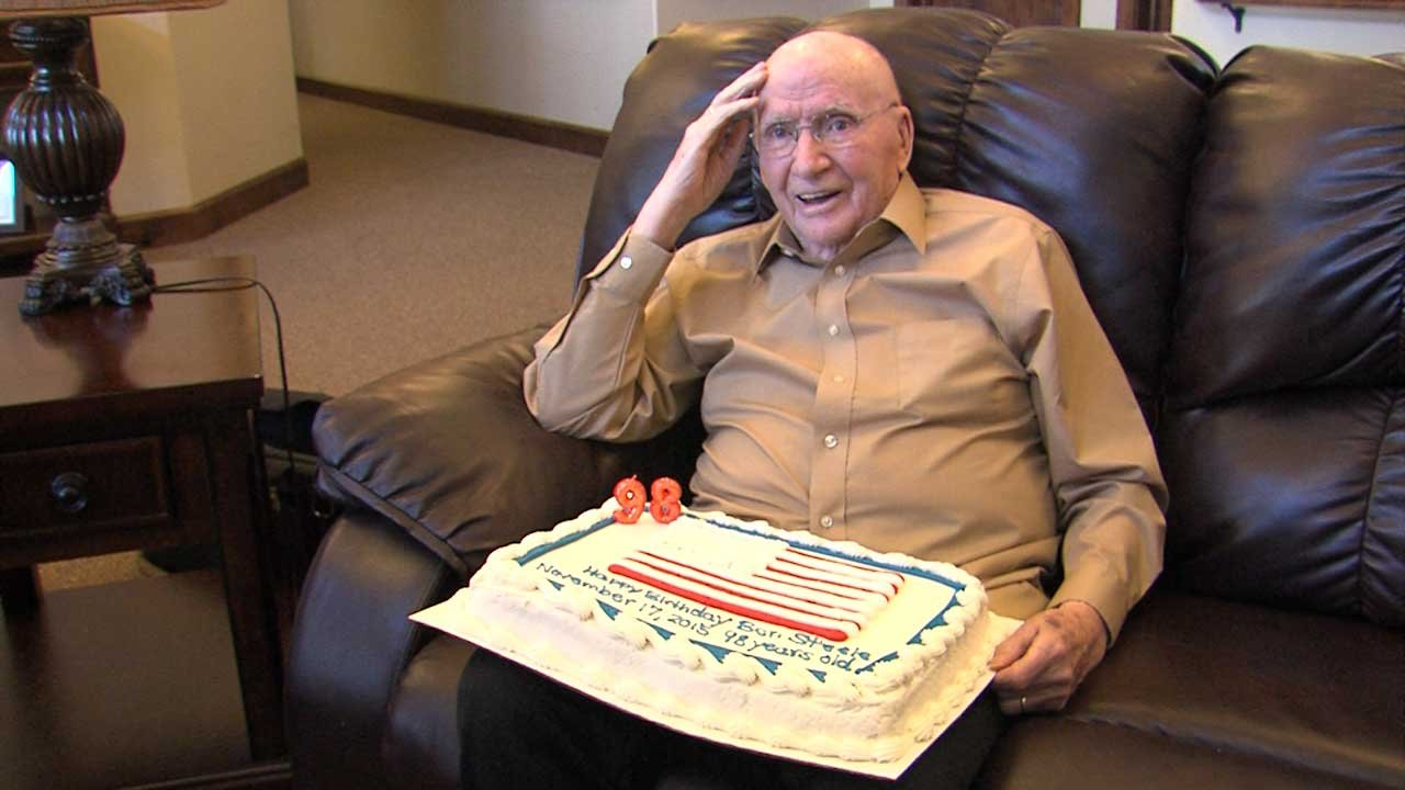 Ben Steele at his 98th birthday celebration.