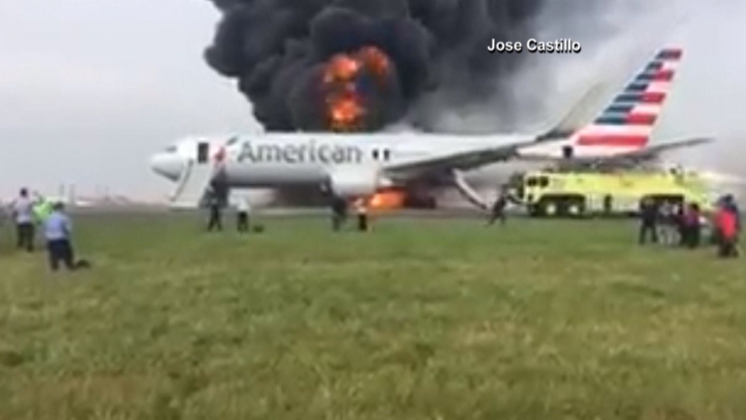 Flight destined for Miami catches fire at O'Hare, injures 20