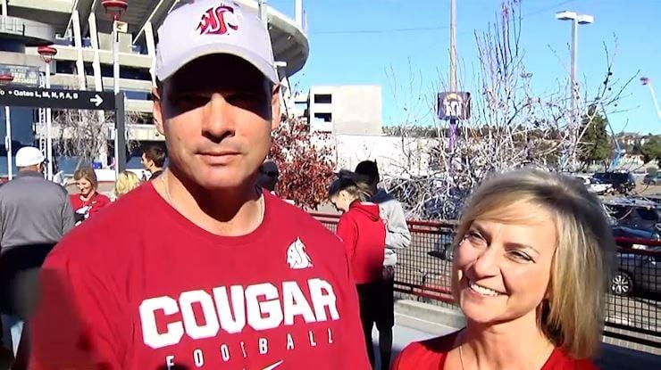 The Hanser family outside Qualcomm Stadium to cheer on son, Dylan Hanser, in the 2016 Holiday Bowl