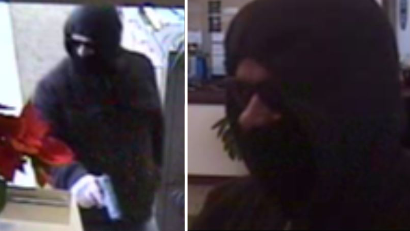 Photos released by the FBI of the suspect who robbed Little Horn State Bank Tuesday afternoon