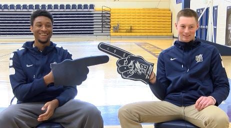 MSUB Men's Basketball sophomore Preston Beverly and senior Marc Matthews earn all-GNAC honors for the 2016-2017 season
