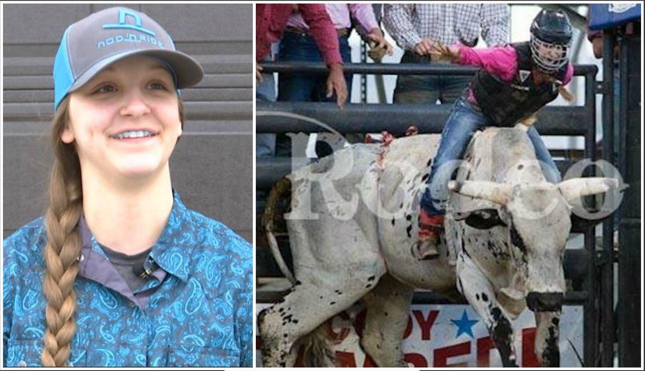 16-old-year bull rider Kenna Hazen