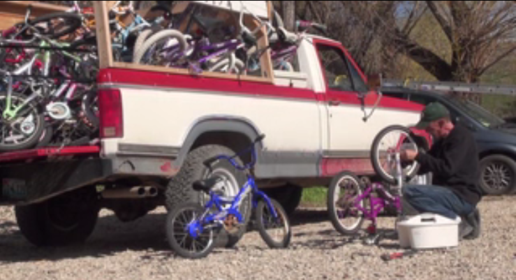 Wyoming man donates bikes for those in need