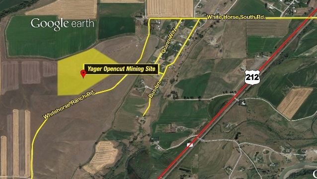An opencut mining permit for this 41.7 acre Yager site South of Laurel