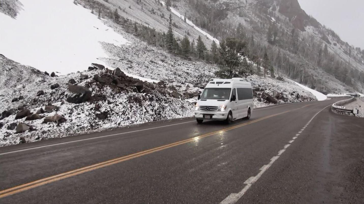Snow hits northwest Wyoming
