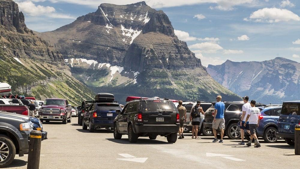 Parking at Logan Pass; NPS / Jacob W. Frank