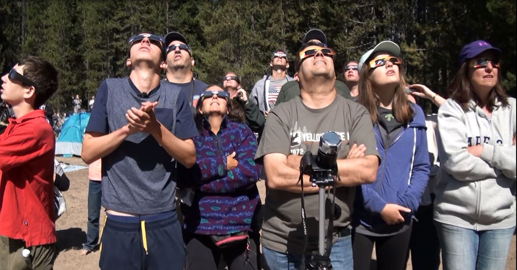 People gather from all over the world to view the eclipse in Grand Teton National Park