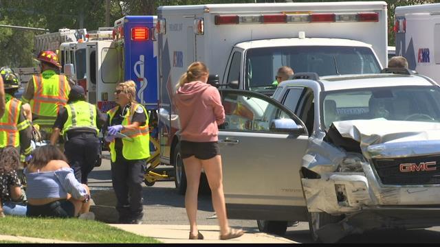 Rollover crash sends seven to the hospital   KULR 8