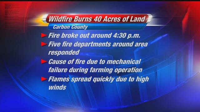 Wildfire breaks out in Carbon County near Roberts | KULR 8
