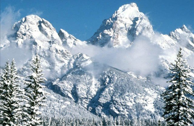 the Grand Tetons in the winter, Photo Credit: nps.gov
