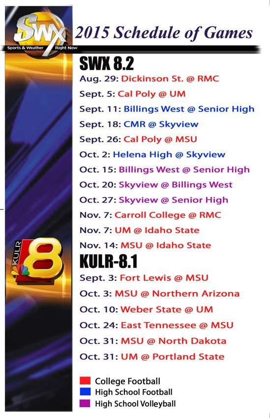 SWX 2015 Game Schedule