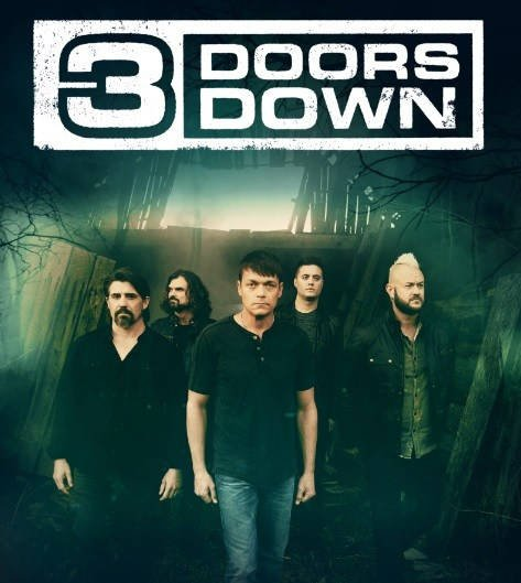 3 doors down steps on stage at montanafair