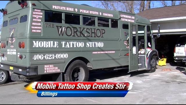 Local artists react to mobile shop news for Mobile tattoo artist