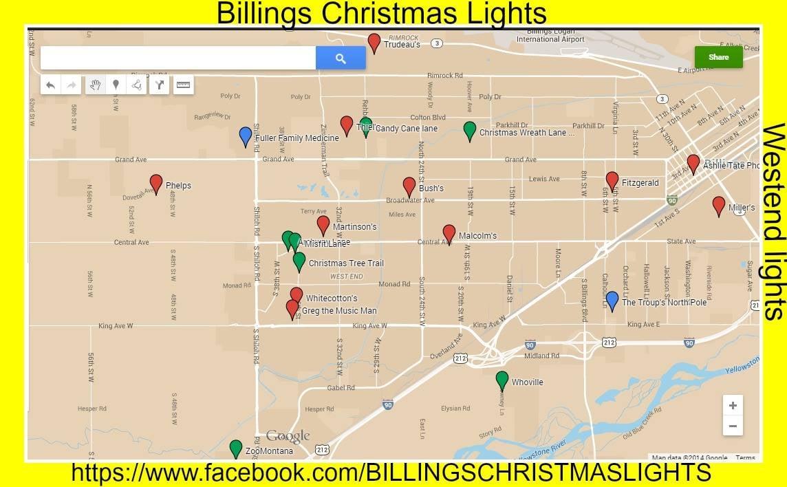 Facebook Page Maps Best Billings Christmas Displays - KULR8.com ...