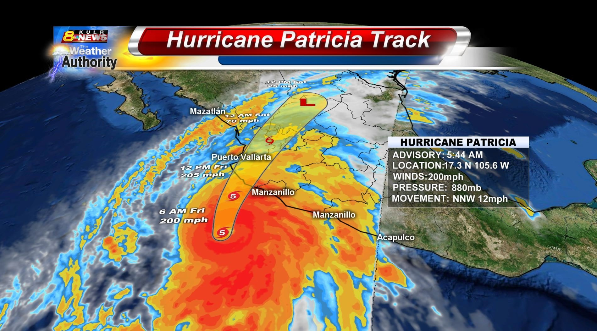 Patricia strongest recorded hurricane with 200mph winds menac