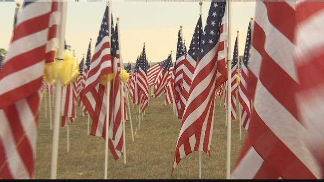 Healing Field display honors 9/11 and those who have served | KULR 8