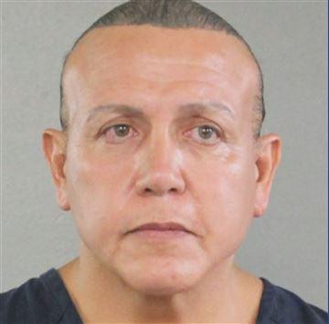 Prior mugshot of Cesar Sayoc, Jr.